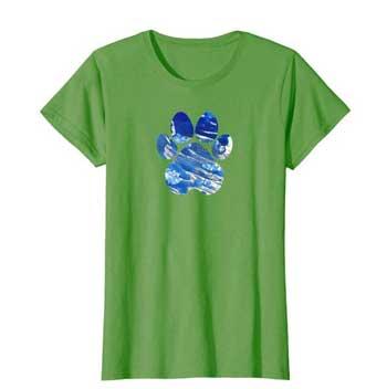 Cobalt women Paws shirt green