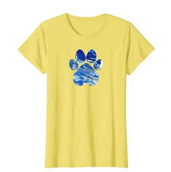 Cobalt women Paws shirt yellow