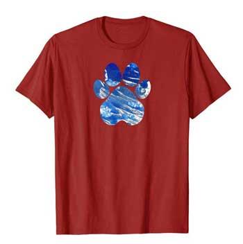 Cobalt men Paws shirt cranberry