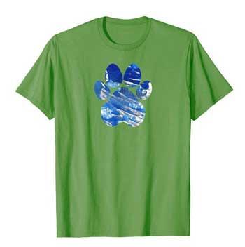 Cobalt men Paws shirt green