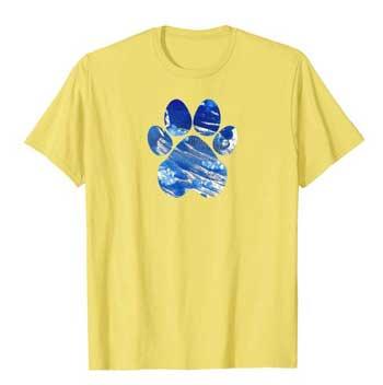 Cobalt men Paws shirt yellow