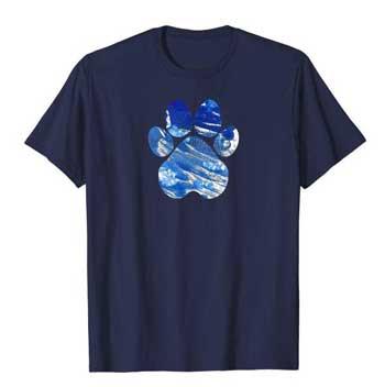 Cobalt men Paws shirt blue