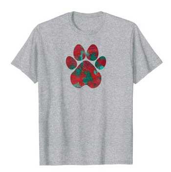 Crimson men Paws shirt gray