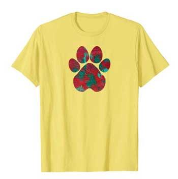 Crimson men Paws shirt yellow