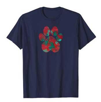 Crimson men Paws shirt blue