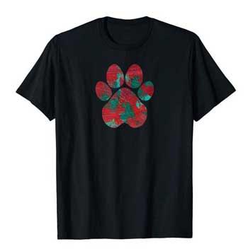 Crimson men Paws shirt black