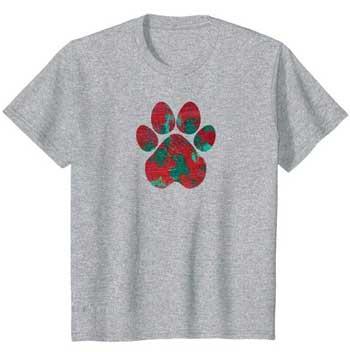 Crimson kids Paws shirt gray