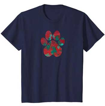 Crimson kids Paws shirt blue