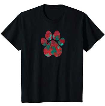 Crimson kids Paws shirt black
