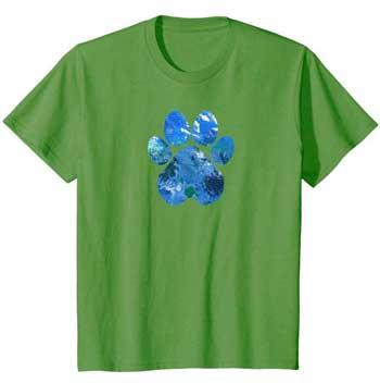 Earth Flight kids Paws shirt green