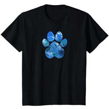 Earth Flight kids Paws shirt black