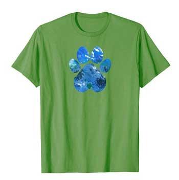 Earth Flight Mens Paws shirt green