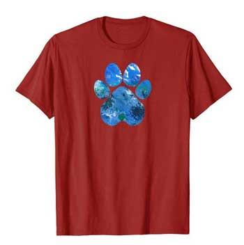 Earth Flight Mens Paws shirt cranberry