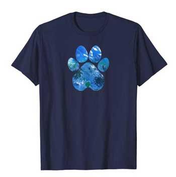 Earth Flight Mens Paws shirt blue