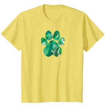 Emerald kids Paws shirt yellow