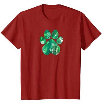 Emerald kids Paws shirt cranberry