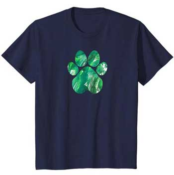 Emerald kids Paws shirt blue