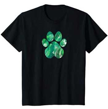 Emerald kids Paws shirt black
