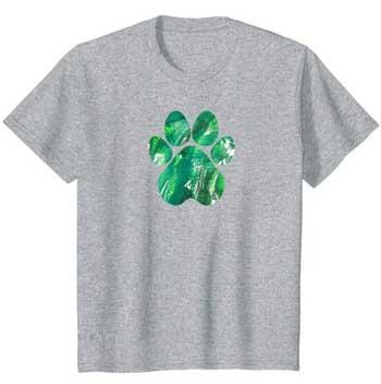 Emerald kids Paws shirt gray