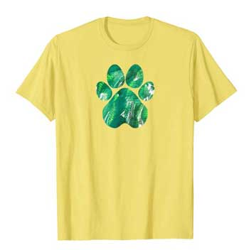 Emerald mens Paws shirt yellow