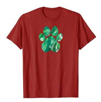 Emerald mens Paws shirt cranberry