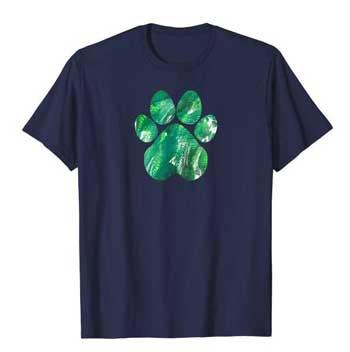 Emerald mens Paws shirt blue