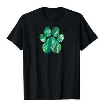 Emerald mens Paws shirt black