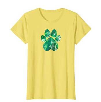 Emerald womens Paws shirt yellow