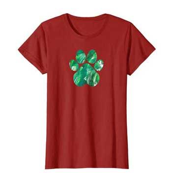 Emerald womens Paws shirt cranberry