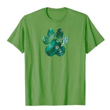 Forest Rain men Paws shirt green