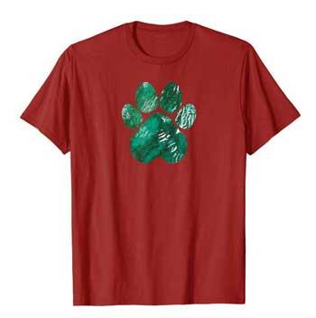 Forest Rain men Paws shirt cranberry