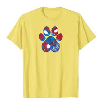 New Glory mens Paws shirt yellow