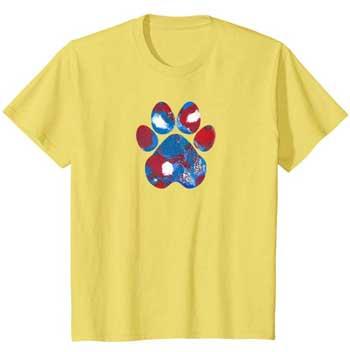 New Glory kids Paws shirt yellow