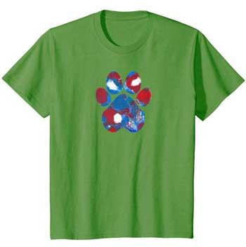 New Glory kids Paws shirt green
