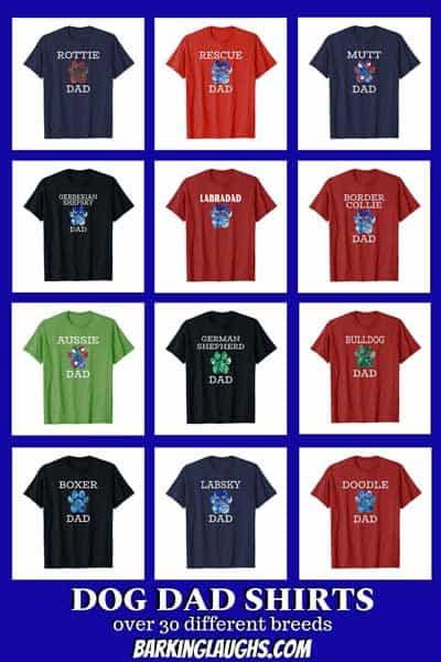 Dog Dad t-shirts