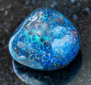 Polished Azurite gemstone