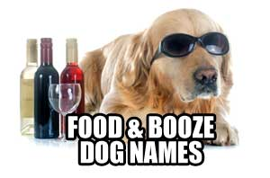 food and booze dog names