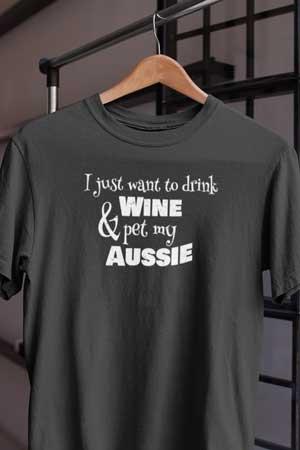 australian shepherd wine shirt