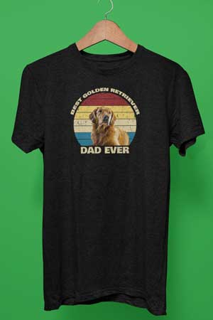 Best Golden Retriever Dad Ever shirt