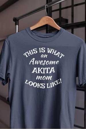 akita shirt Awesome Dog Mom