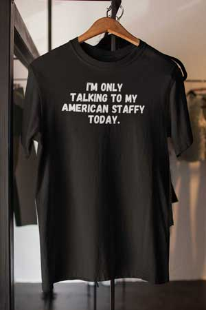 american staffy shirt