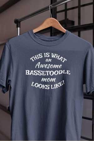 bassetoodle shirt Awesome Dog Mom