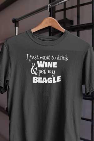 beagle wine shirt