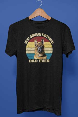 best german shepherd dad ever shirt