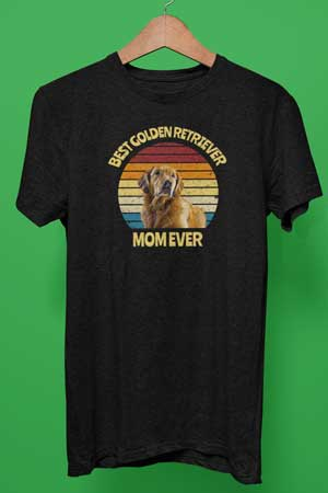 best golden retriever mom ever shirt