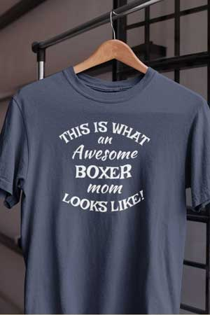 boxer shirt Awesome Dog Mom