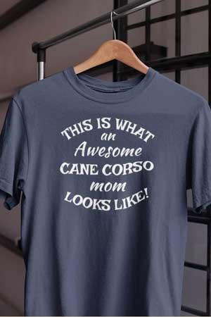 cane corso shirt Awesome Dog Mom
