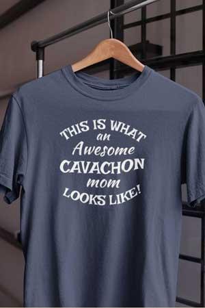 cavachon shirt Awesome Dog Mom