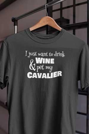 cavalier wine shirt
