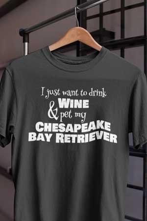chesapeake bay retriever wine shirt